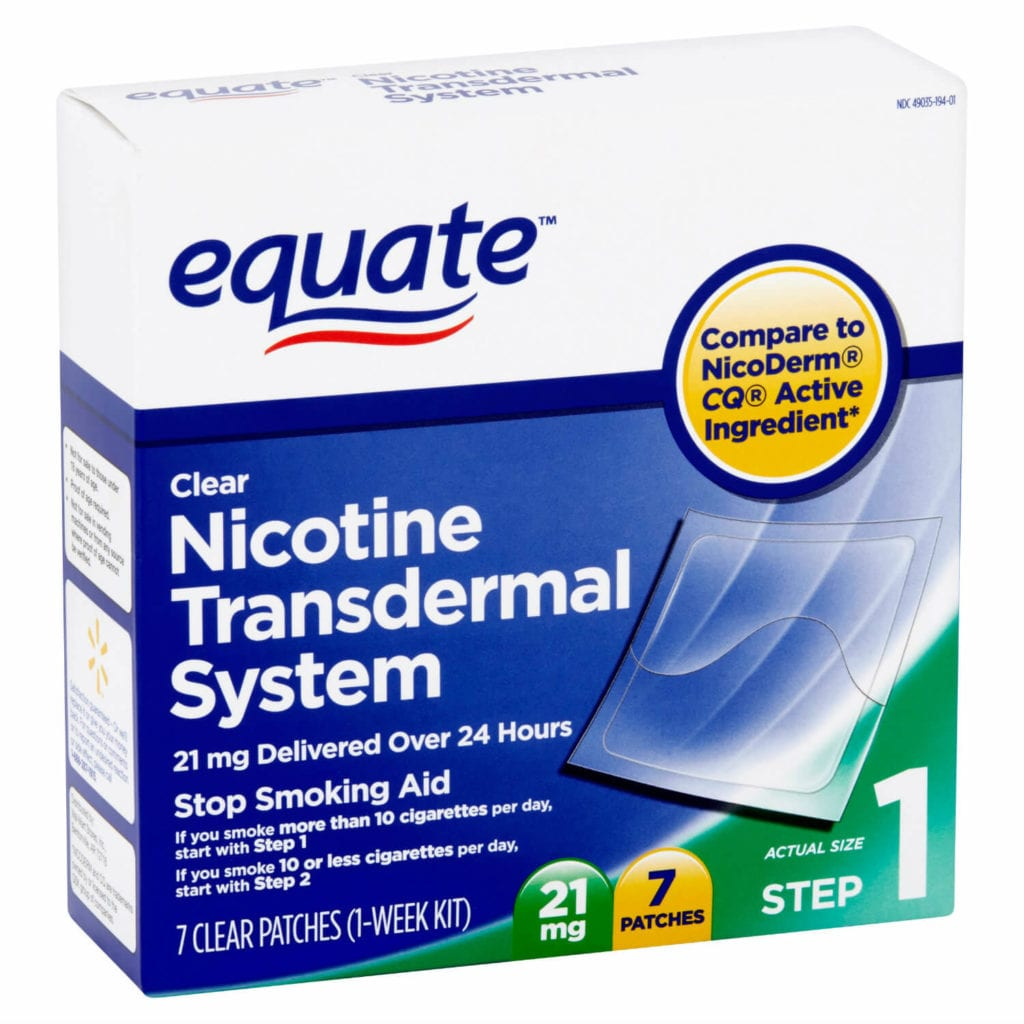 Equate nicotine patch
