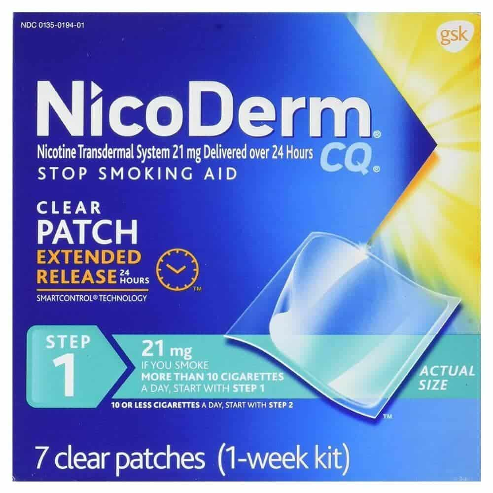 Nicoderm nicotine patch