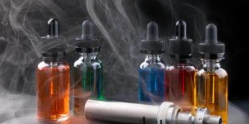 amber vape juice bottles and vape pen