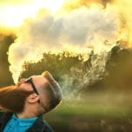 bearded guy vaping