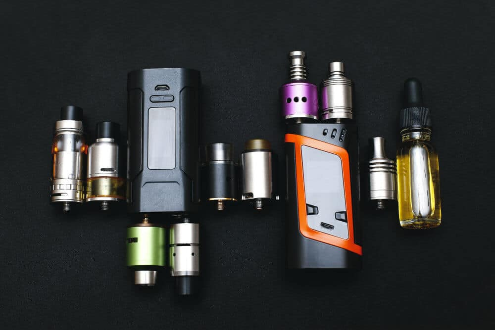 different vapes with atomizers collage