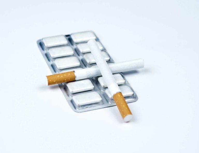 nicotine gum and cigarettes
