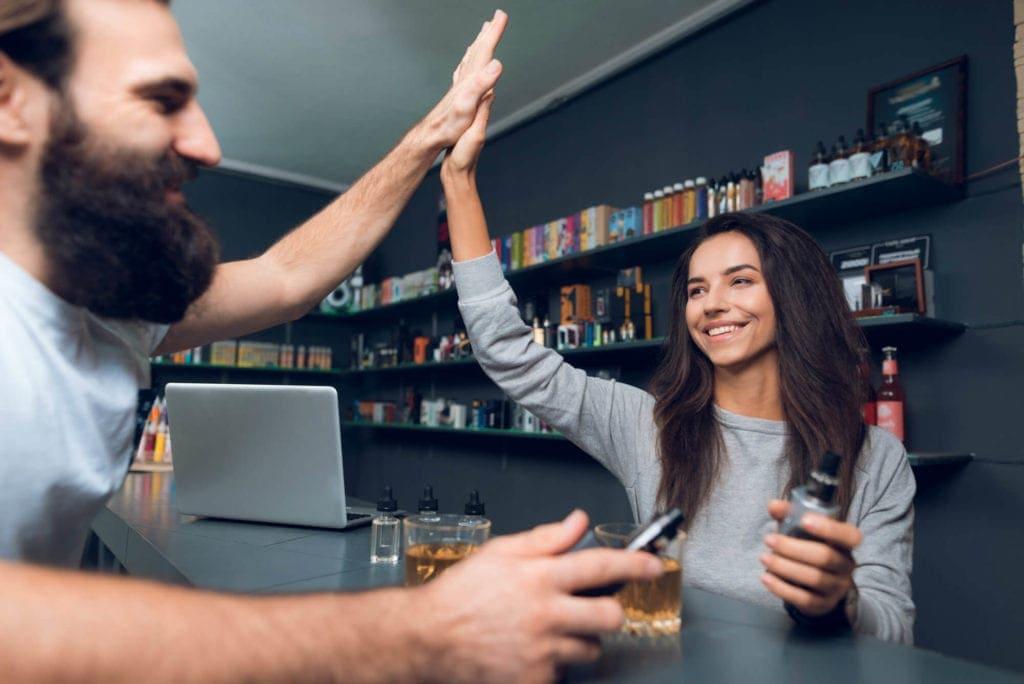 vape shop counter image