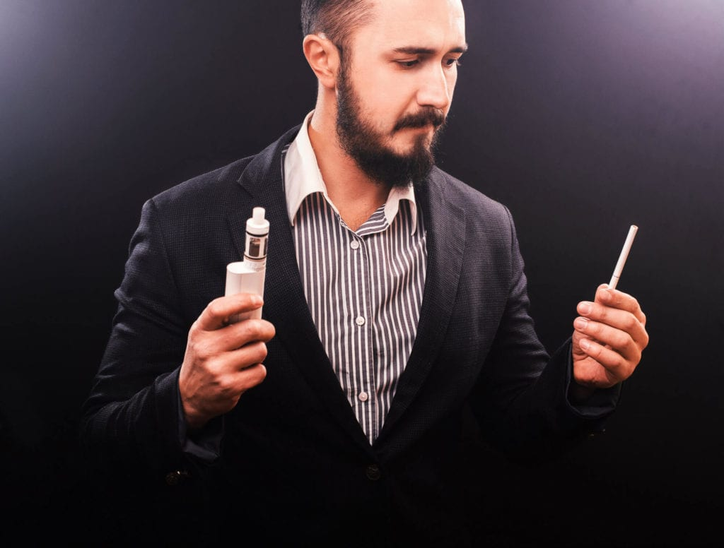 vaping vs smoking guy