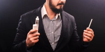 vaping vs smoking guy