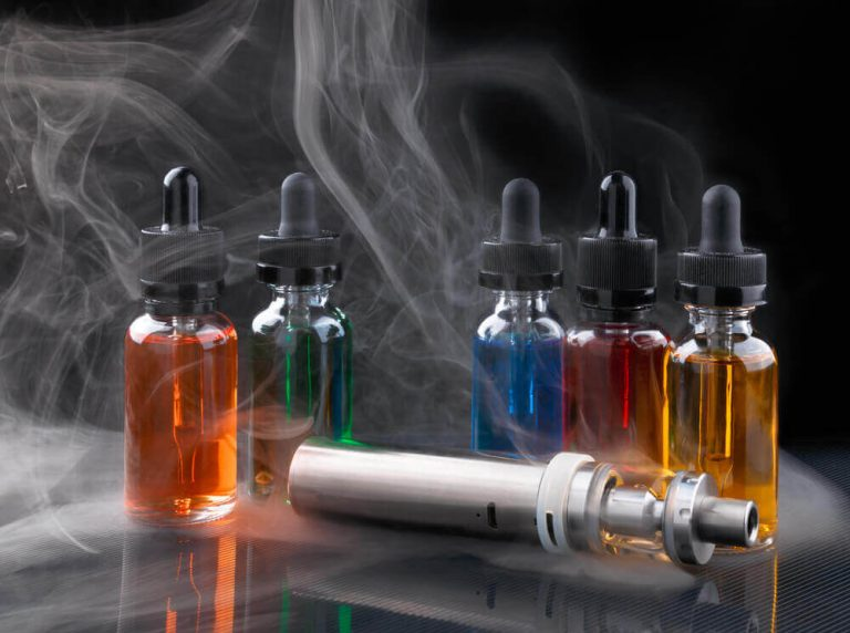 amber vape juice bottles and vape image