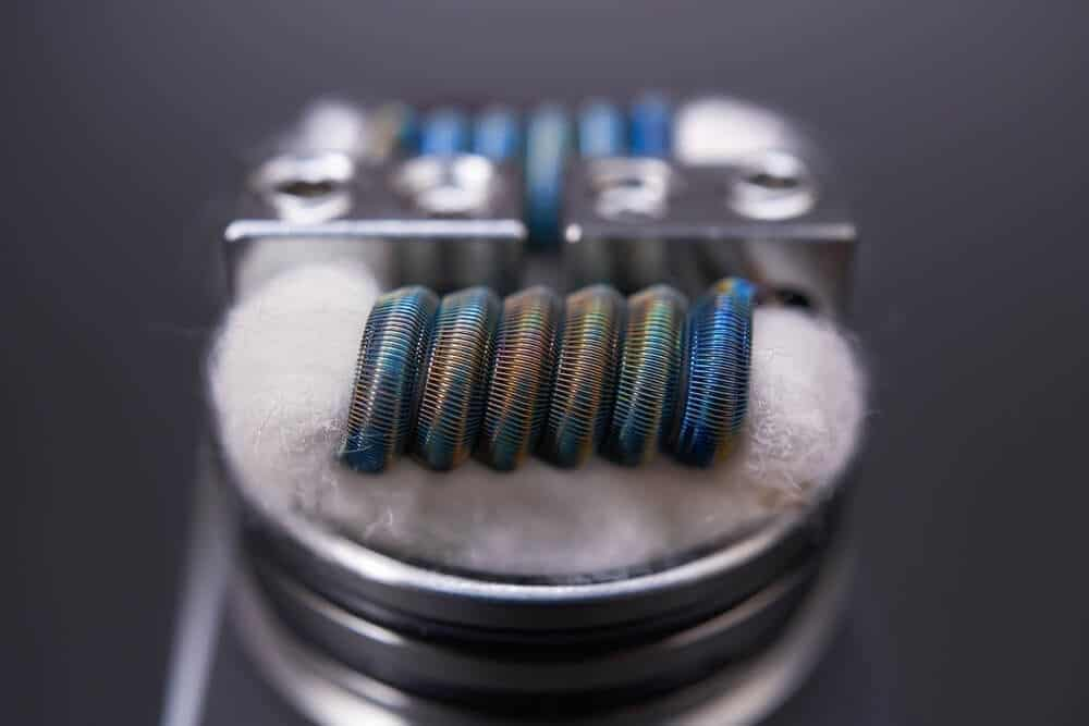 wicking material in coils