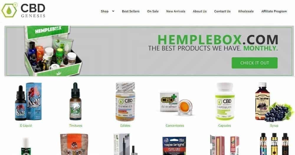 CBD Genesis online shop image