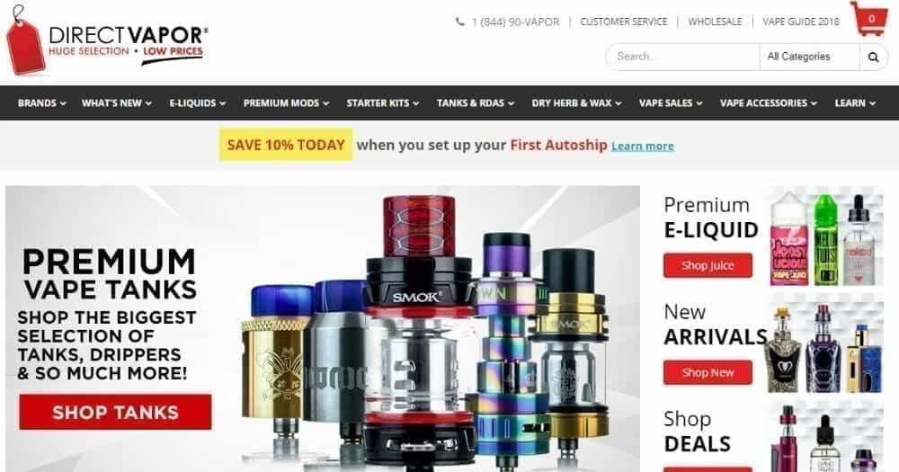 Direct Vapor online shop image