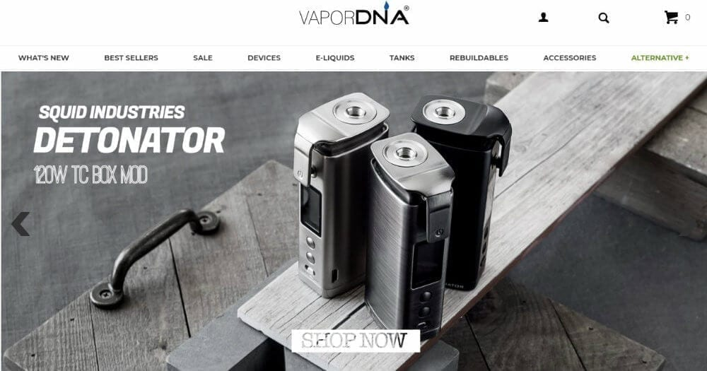 Vapor DNA online shop link image
