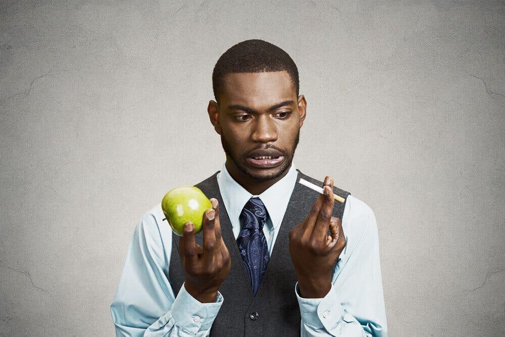 apple or cigarette image