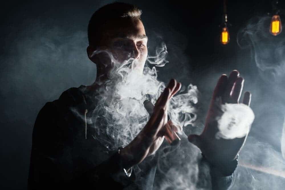 cloud chasing guy blowing os image