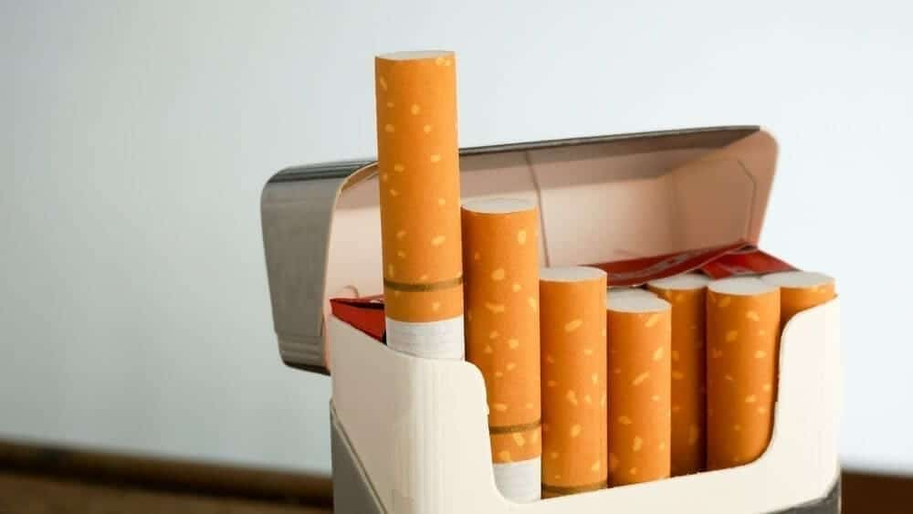 quitting smoking pack of cigarettes image