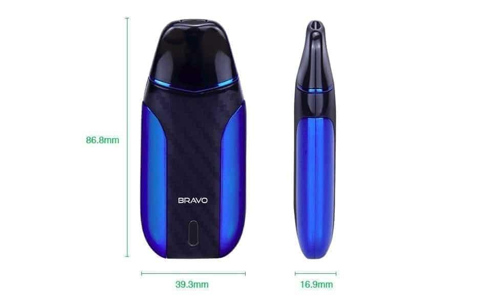 Starss Bravo Pod Starter Kit dimensions