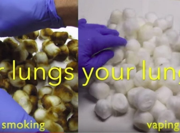 smoking vs vaping video