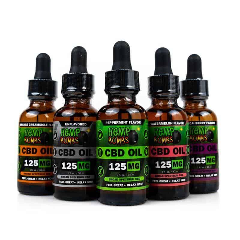 CBD Oil Tinctures hemp bombs