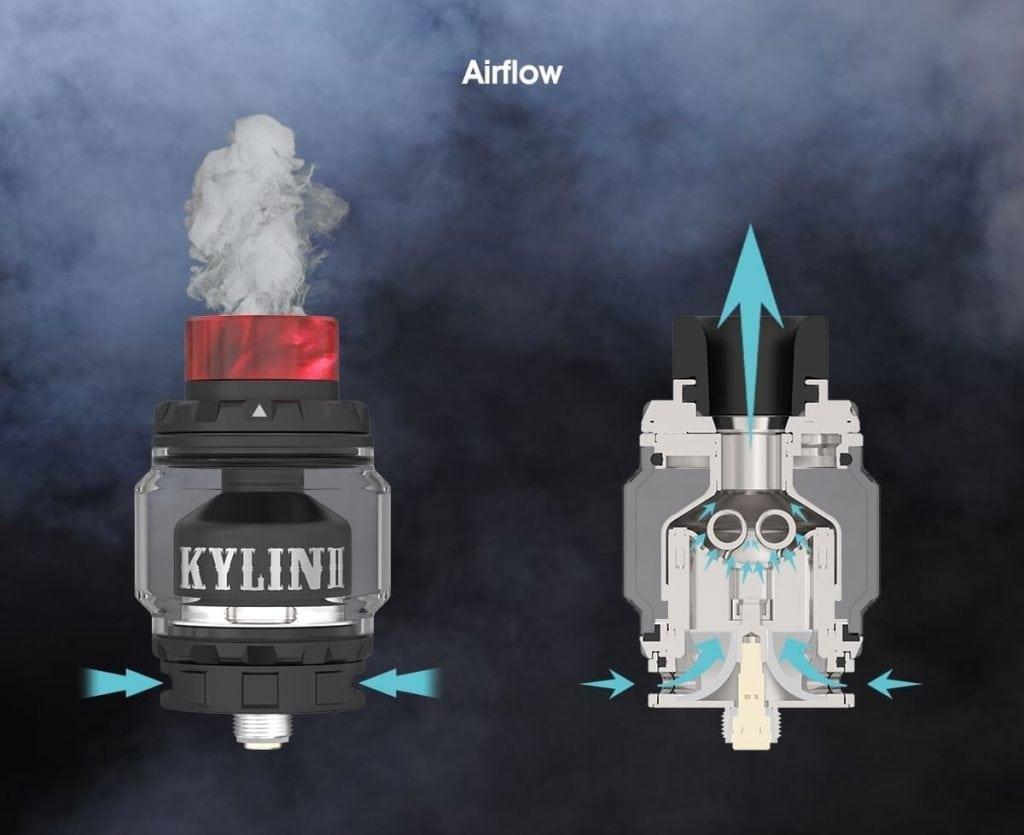Kylin V2 RTA airflow