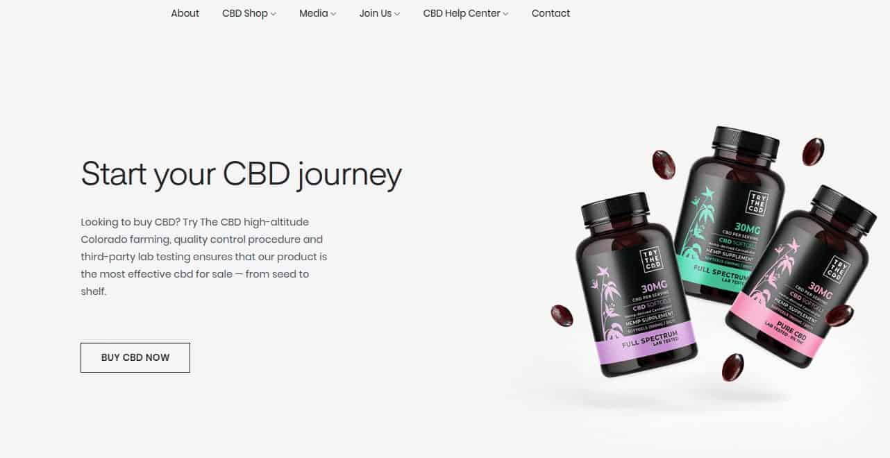 TryTheCBD online shop image