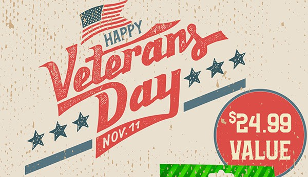Hemp Bombs veterans day banner image