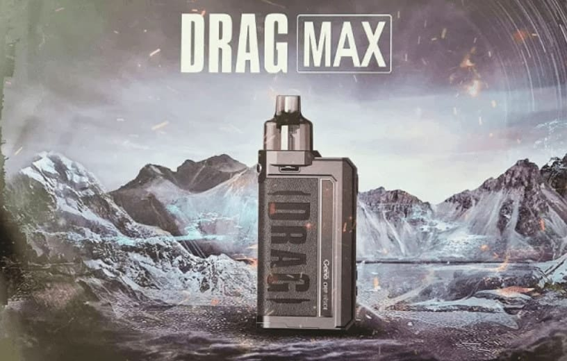 Voopoo Drag Max mountains background image