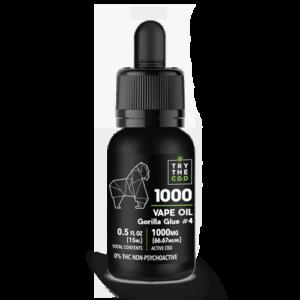 1000MG Gorilla Glue #4 CBD Vape Oil