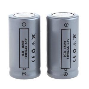 18350 3.7V ''1200mAh'' Rechargeable Li-ion Battery (2-Pack)