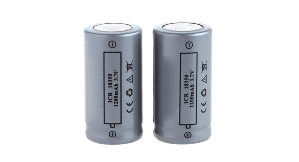 18350 3.7V ''1200mAh'' Rechargeable Li-ion Battery (2-Pack)