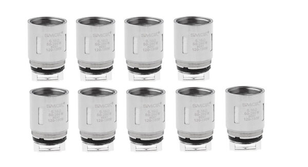 9PCS Authentic Smoktech SMOK TFV8 Clearomizer Replacement V8-T8 Coil Head