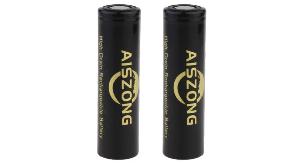 AISZONG IMR 18650 3.7V 2100mAh Rechargeable Li-ion Battery (2-Pack)