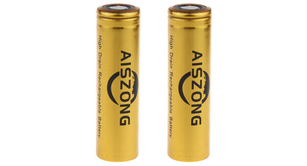 AISZONG IMR 18650 3.7V 3100mAh Rechargeable Li-ion Battery (2-Pack)