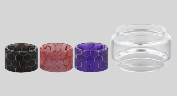 AOLVAPE Replacement Glass Tank + Resin Drip Tip Set for SMOK TFV8 Baby V2
