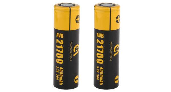 AVB 21700 3.7V 4000mAh Rechargeable Li-ion Battery (2-Pack)