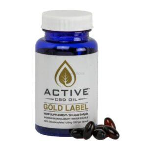 Active CBD Oil Capsules 25mg per capsule (30ct or 60ct)