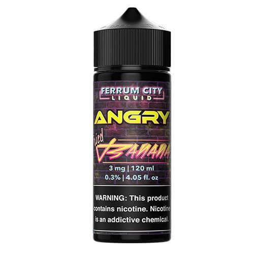 Angry E Line by Ferrum City Liquid - Angry Fried Banana - 100ml / 0mg