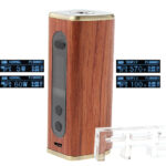 Authentic ATHENA 60W Wood VW TC APV Box Mod