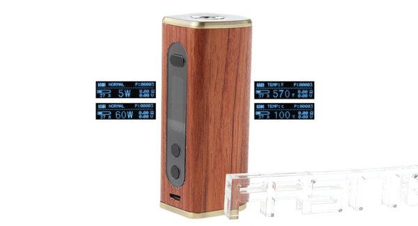 Authentic ATHENA 60W Wood VW TC APV Box Mod