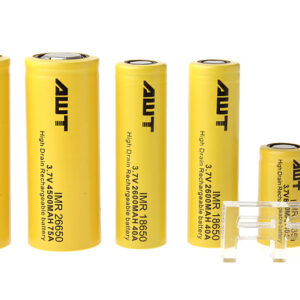 Authentic AWT IMR 18350/18650/26650 3.7V Rechargeable Lithium Batteries (6-Piece)