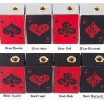 Authentic Avidartisan Gamblers 60W TC VW APV Box Mod (Silver Spades)