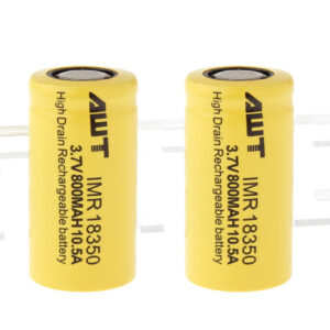 Authentic Aweite AWT IMR 18350 3.7V 800mAh Rechargeable Li-Mn Battery (2-Pack)