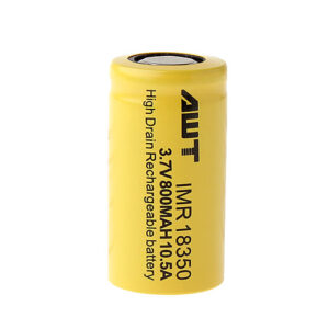 Authentic Aweite AWT IMR 18350 3.7V 800mAh Rechargeable Li-Mn Battery