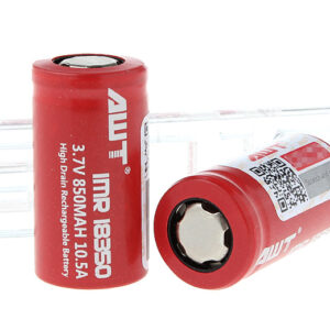 Authentic Aweite AWT IMR 18350 3.7V 850mAh Rechargeable Li-ion Battery (2-Pack)
