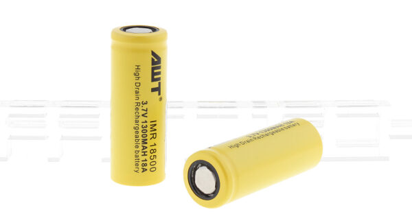 Authentic Aweite AWT IMR 18500 3.7V 1300mAh Rechargeable Li-ion Batteries (2-Pack)