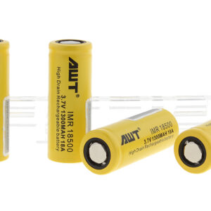 Authentic Aweite AWT IMR 18500 3.7V 1300mAh Rechargeable Li-ion Batteries (4-Pack)