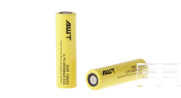 Authentic Aweite AWT IMR 18650 3.7V 2500mAh Rechargeable Li-Ion Battery (2-Pack)
