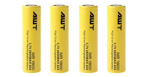 Authentic Aweite AWT IMR 18650 3.7V 2600mAh Rechargeable Li-Mn Batteries (4-Pack)