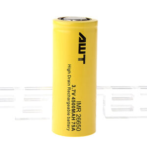 Authentic Aweite AWT IMR 26650 3.7V 4500mAh Rechargeable Li-Mn Battery