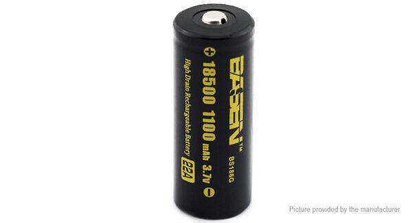 Authentic BASEN IMR 18500 3.7V 1100mAh Rechargeable Li-ion Battery