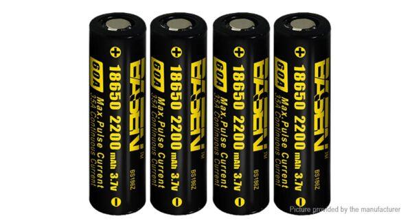 Authentic BASEN IMR 18650 3.7V 2200mAh Rechargeable Li-Mn Batteries (4-Pack)