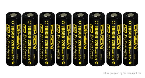 Authentic BASEN IMR 18650 3.7V 2200mAh Rechargeable Li-Mn Battery (8-Pack)