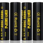 Authentic BASEN IMR 18650 3.7V 2600mAh Rechargeable Li-Mn Batteries (4-Pack)